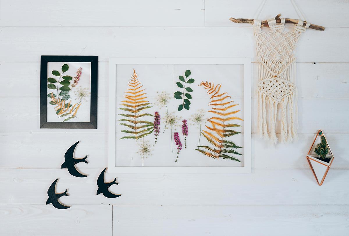 DIY- cadre-feuilles-en situation