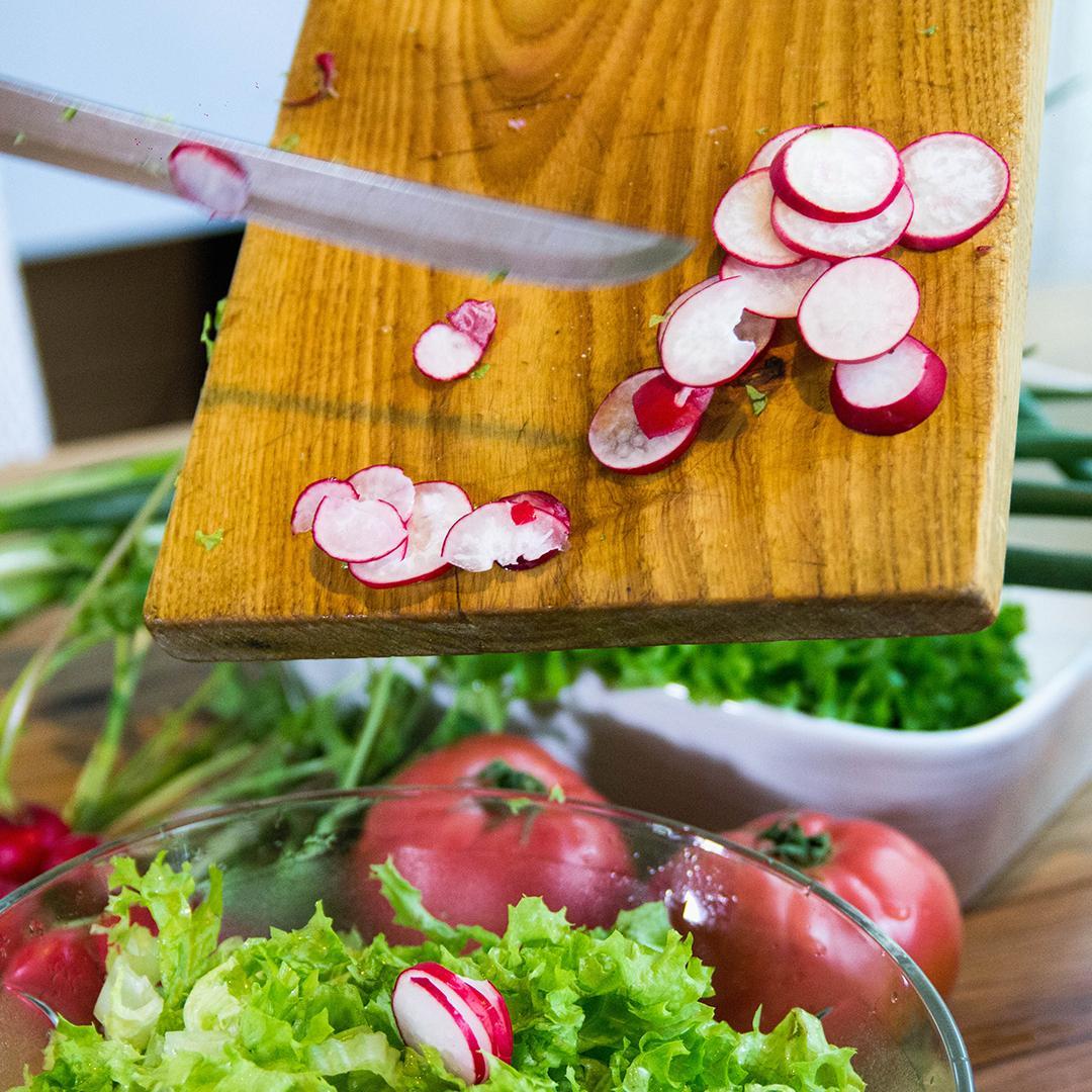 légumes du moment, crudités, salade de radis