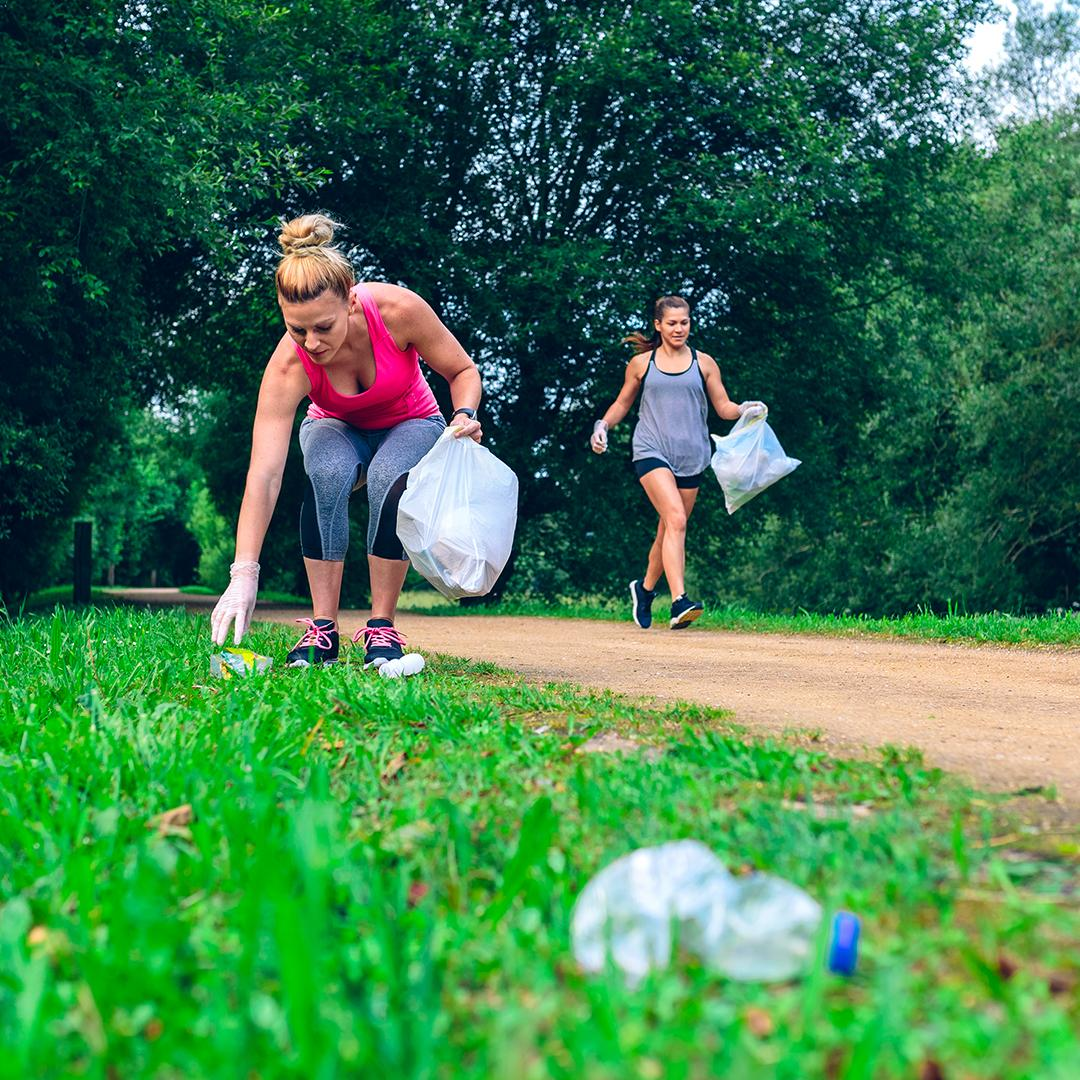 Plogging : pick up litter along the run