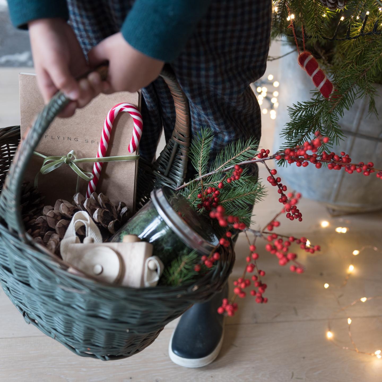 Chasse aux trésors, Noël, bottes en caoutchouc, balade