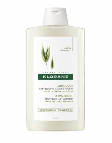 Oat Milk Klorane Shampoo 400ml For all Hair types gentle whole family